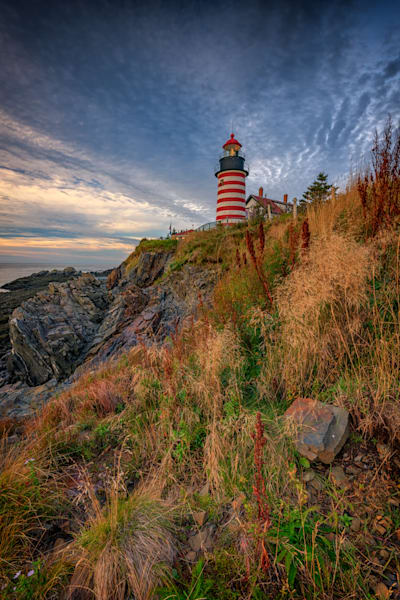 West Quoddy Head Lighthouse by Rick Berk