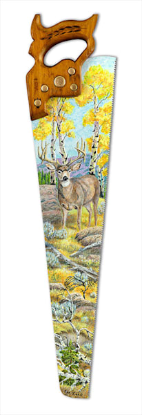 """Mule Deer Aspen"" fine art print by Sue Zabel, Artistic Memories."