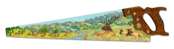 """""""Elk Herd Overlook"""" fine art print by Sue Zabel, Artistic Memories."""