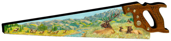 """Elk Herd Overlook"" cut out print form by Sue Zabel, Artistic Memories."