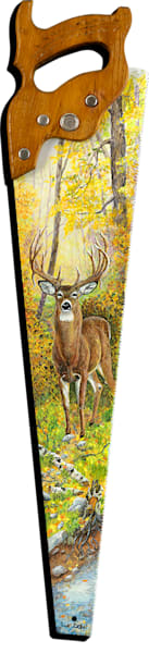 """Old Wise Whitetail"" cut out print form by Sue Zabel, Artistic Memories."