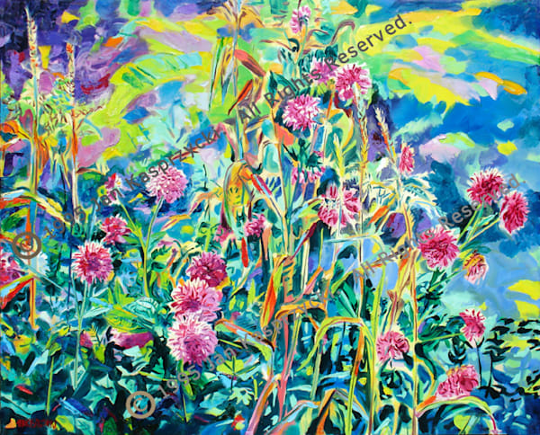 Cornsilk Dahlias Art | Kasprzycki Fine Art Inc.