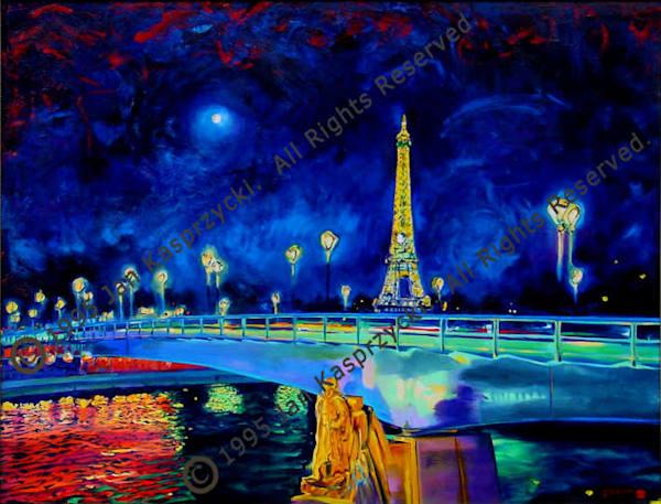 Paris Moonlit Bridge