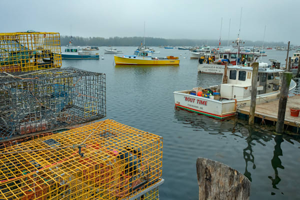 The Yellow Lobster Boat by Rick Berk