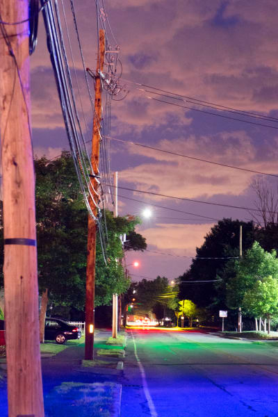 Ashland Streetlights: View Down Pleasant Street