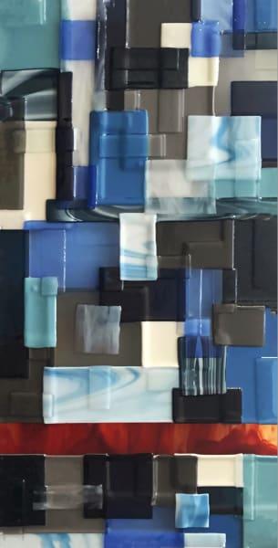 Blue Red Vertical Right Art   Natalie Ventimiglia Studios