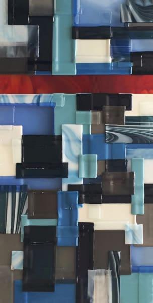 Blue Red Vertical Center Art   Natalie Ventimiglia Studios