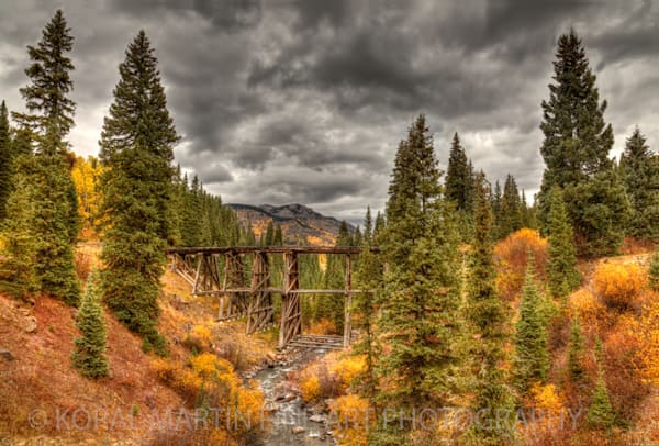 Trout Lake Train Trestle Photograph 8406 | Historical Colorado Photography  | Koral Martin Fine Art Photography