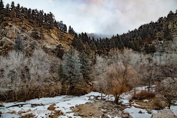 Winter Scene of Boulder Creek Photograph 9080 |  Boulder Creek Trail | Colorado Winter Photography |  Koral Martin Fine Art Photography