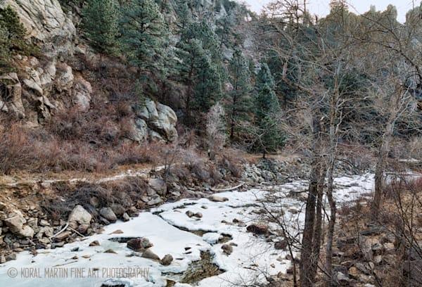 Winter Scene of Boulder Creek Photograph 9093 |  Boulder Creek Trail | Colorado Winter Photography |  Koral Martin Fine Art Photography