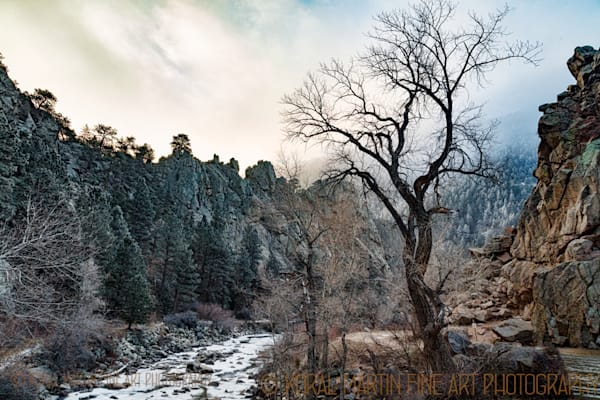 Winter Scene of Boulder Creek Photograph  9103 |  Boulder Creek Trail | Colorado Winter Photography |  Koral Martin Fine Art Photography