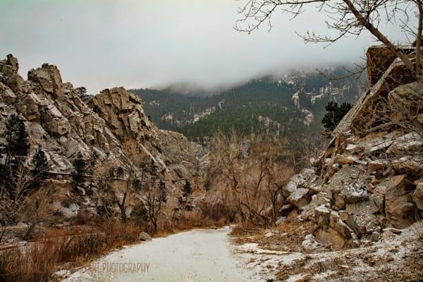 Winter Scene of Boulder Creek Photograph  9246 |  Boulder Creek Trail | Colorado Winter Photography |  Koral Martin Fine Art Photography