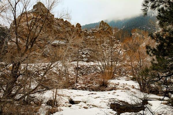 Winter Scene of Boulder Creek Photograph  9327 |  Boulder Creek Trail | Colorado Winter Photography |  Koral Martin Fine Art Photography
