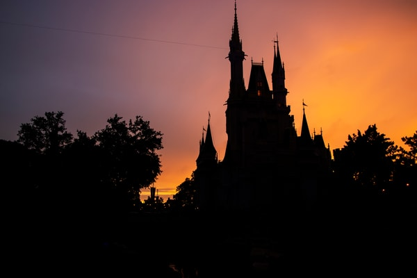 Cinderella Castle Silhouette - Magic Kingdom Images | William Drew Photography