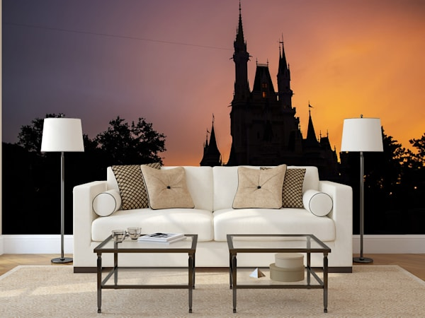 Cinderella Castle Silhouette - Disney Castle Wall Mural | William Drew
