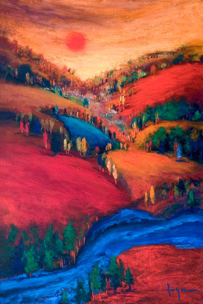 Valley of Love Series Painting Prints by Dorothy Fagan