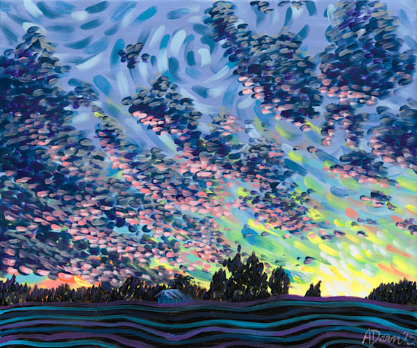 Sunset At Granny And Popo's Art | a.dawn art