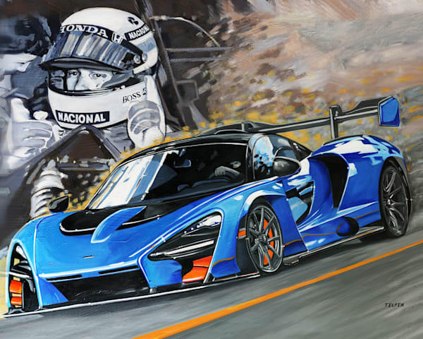 Mc Laren Senna  Art | Telfer Design, Inc.