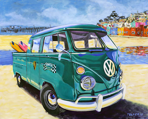 Capitola Beach Vw Crewcab Art | Telfer Design, Inc.