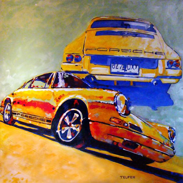 1968 Porsche 911 R  Art | Telfer Design, Inc.