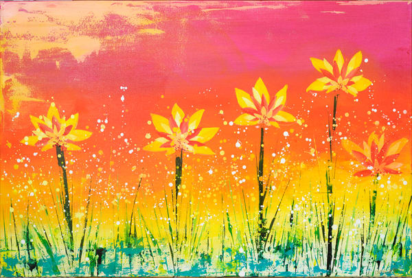 Happy Flowers  Art | benbonart