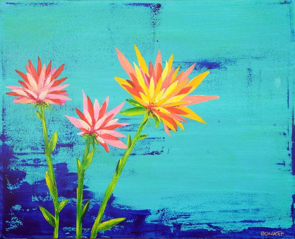 Fleurs  Art   benbonart
