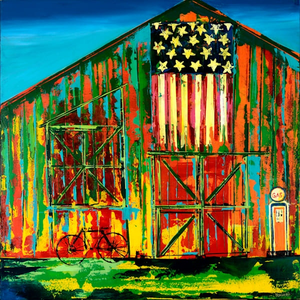AMERICAN FLAGS, BARNS & CITIES