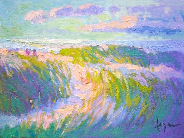 Beach Oil Painting, Barnegat Light by Dorothy Fagan