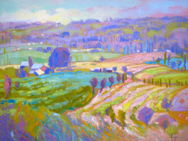 Normandy Landscape Painting, Fine Art Print by Dorothy Fagan