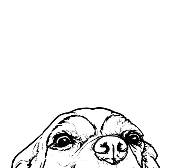 Chihuahua At The Table Art | Van Isle Dog Art