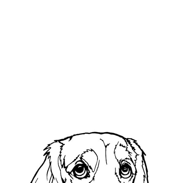 Dachshund At The Table Art | Van Isle Dog Art