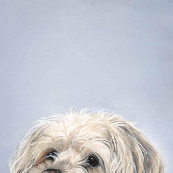Too Short For The Table Art | Van Isle Dog Art
