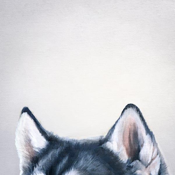 Husky At The Table Art | Van Isle Dog Art
