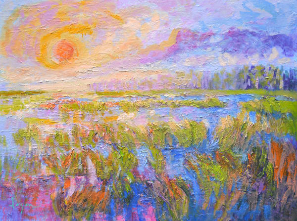 Marsh Painting, Original Oil by Dorothy Fagan