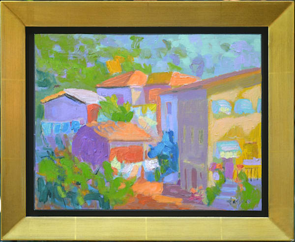 Italian Street Scene, Original Oil Painting by Dorothy Fagan