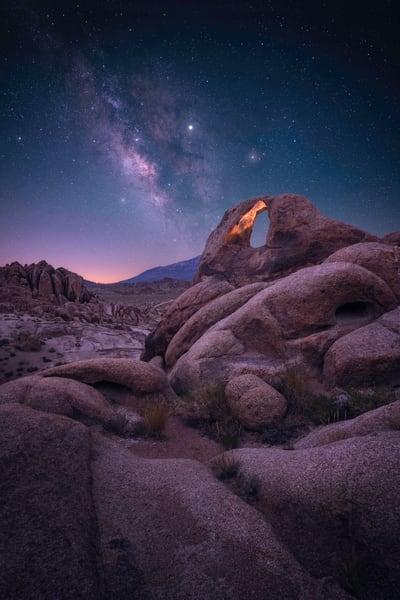 'Secret Arches & Starlit Skies' Photograph for sale as Fine Art