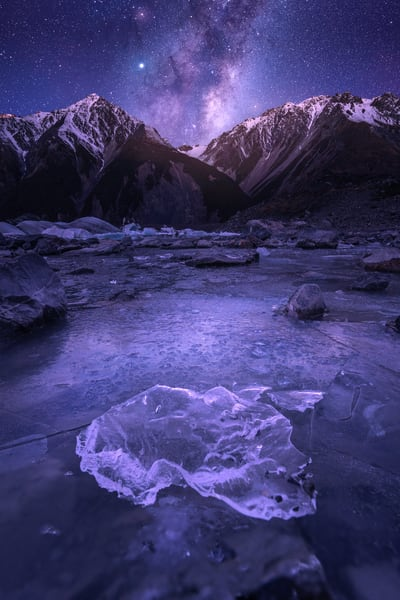 'Icebergs & Stars' Photograph by Jess Santos for sale as Fine Art