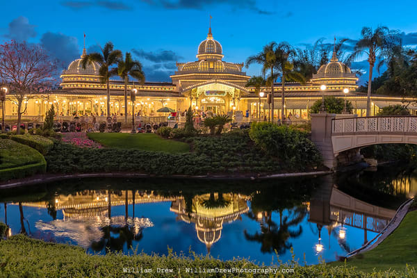 Crystal Palace at Dusk - Disney Wall Murals | William Drew Photography