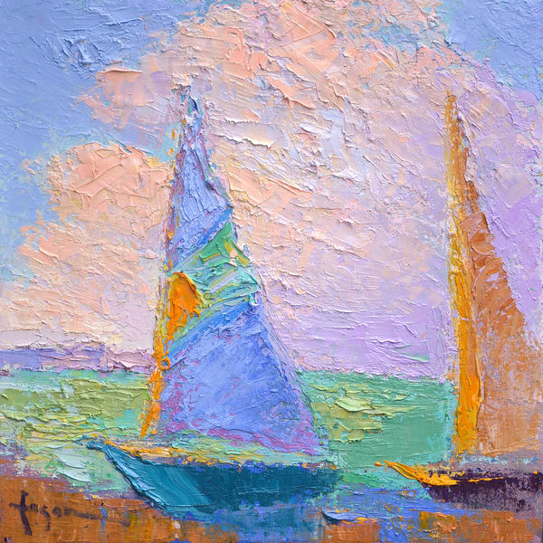 Sailing Art Print with Sunrise by Dorothy Fagan