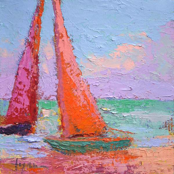 Catamaran Painting Fine Art Print by Dorothy Fagan
