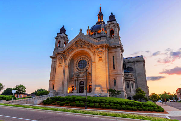 Cathedral of Saint Paul and the Moon - Saint Paul Images | William Drew