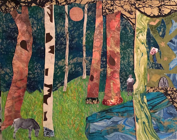 At Peace in Gustav Klimt's Birch Forest