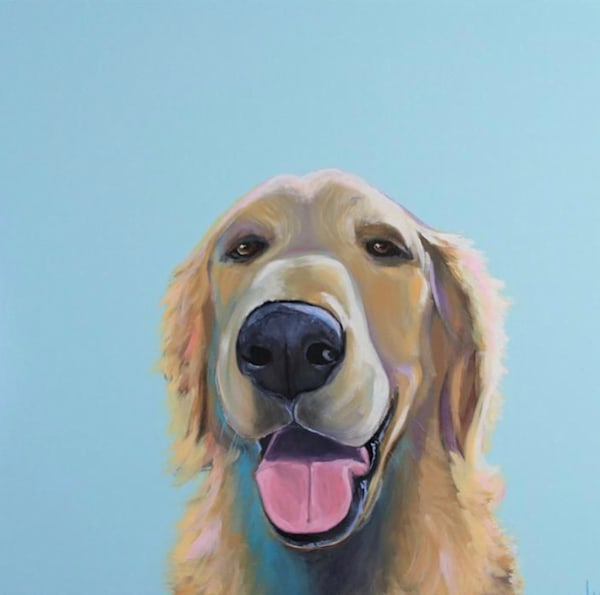 Golden-retriever painting