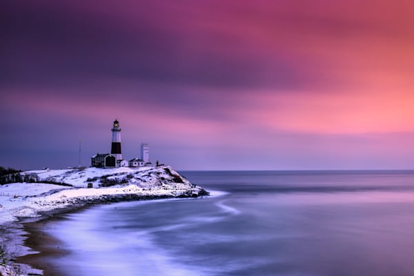 Winter Glow at Montauk Point by Rick Berk