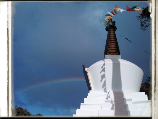 Tibetan Stupa & Rainbow  Maui, Hawaii Photography Art | Brian Ross Photography