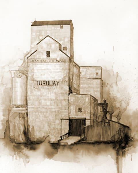 Torquay Elevators - Coffee Painting