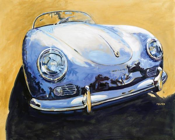 Blue Speedster Porsche Original Painting