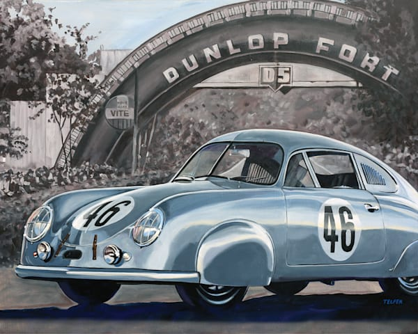 Pour Aller Vite - Porsche 1951 LeMans Winner Original Painting