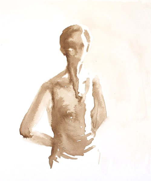 Original Framed 16x20 Figure Drawing