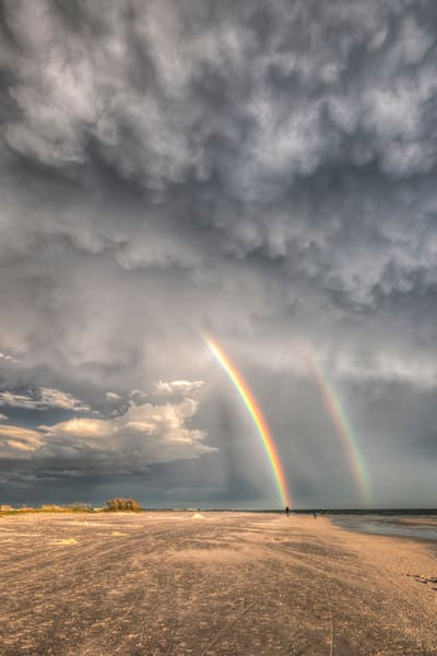 Double Rainbow at Siesta Key